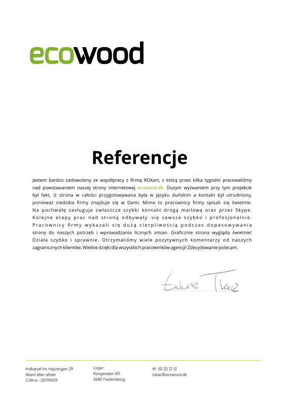 referencje roxart ecowood